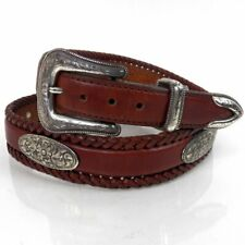 Tony Lama Men's Belt Size 36 Brown Leather Western Cowboy Concho