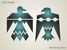 "Joanie Stencil Navajo 6"" Thunderbirds Arizona Desert Tribal Cabin DIY Art Signs"