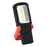 COB LED Flashlight Work Inspect Torch Light  W/ Magnetic Base & Adjustable Hook