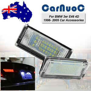 Auto Led License Number Plate Lights Lamps Fit For BMW 3 Series E46 1998-2005 AU