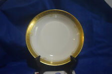 One (1) Haviland France Bowl - White with gold band and line - Pattern Unknown