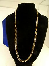 """Mens Ladies 18"""" Solid 9ct Gold CURB Chain Necklace 13gr 5mm HmItaly ch4"""