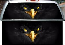 Black eagle rear window view thru graphic decal wrap