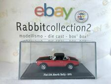 "Die Cast "" Fiat 124 Abarth Rally - 1972 "" + Course Rigid Box 2 Scale 1/43"