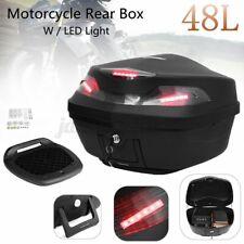 48 Liter Motorradkoffer Rollerkoffer Top Case Hecktasche mit Rot LED Licht 12V