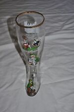 """VINTAGE 1 L German Glass BEER STEIN 10 1/2"""" tall Cartoon GREAT GIFT Free ship"""