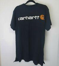 Carhartt T-Shirt Mens  Black  Side Zip Short Sleeve sz s