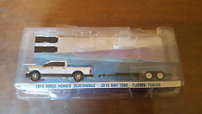 Greenlight Hollywood Hitch N Tow 2015 Dodge Ram Pickup and Flatbed Trailer Loose
