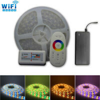WiFi Mi Light 6M 7M 8M 10M 15M 18M 20M RGBW 5050 LED Strip Light Porch 12V Power