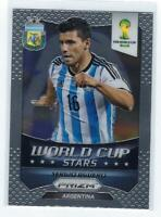Sergio Aguero Stars Silver Prizms 2014 Panini Prizm World Cup Soccer 2 Argentina