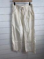Patagonia Island Pants Wide Leg Hemp Blend Ivory Women's Size 6