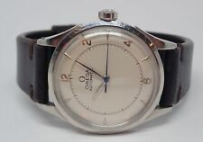 Omega 1940s Stainless Steel 17j Bumper Automatic Mens Watch Serviced 9/20