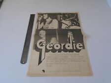 GEORDIE - HOPE YOU LIKE IT - CUTTING ADVERT CLIPPING - 1973 (2)