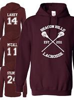 Beacon Hills Lacrosse Hoodie - Teen Wolf McCall  Argent Unisex Hoodie All Names