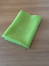 Single Polyester Voile Panel - Tape Top or Rod Header in Green - 60 x 160cm Drop