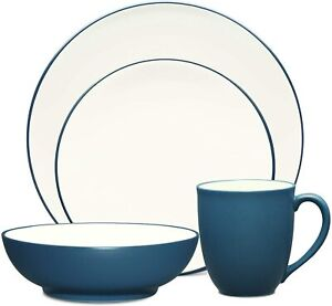 Noritake Dinnerware Colorwave 4-Piece Place Setting In Blue Coupe Shape