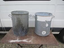 Ancien stérilisateur bassine bocaux  zinc conservation aliments  jardin francais