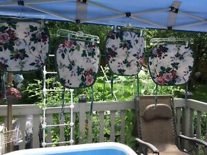 Waverly Garden Room Pleasant Valley 4 Vintage Chair Pads Reversible Floral
