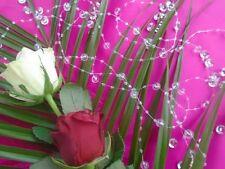 ***8 M GUIRLANDE DE PERLE***pvc transparent, décoration mariage baptême