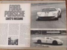*ARTICOLO 1000 KM MONZA FORD PORSCHE CONTRO NESSUNO  -- 1968