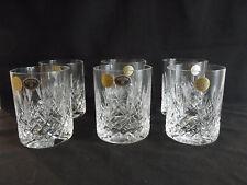 NEW Bohemia Crystal Hand Cut set of 6 Tumbler Glasses, Czech Republic