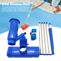 1set Above-Ground Cleaning Tool With Brush Swimming Spa Pool Vacuum Head Jet
