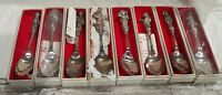 8 Nice Reed & Barton Children of Christmas Collector's Spoons