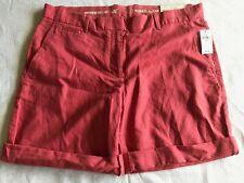Khakis By Gap Women's Shorts Boyfriend Roll-Up Flat Front Size 8 Casual Mel Pk