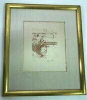 Salvador DALI Original Limited Edition Signed Etching THOMAS EDISON 1967 COA Art
