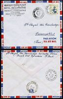 Kambodscha Khmere 1957 Erstflugbrief FFC RAC  Phnom-Penh > Savannakhet Laos / 41