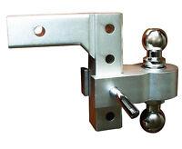 Aluminum 6 inch Drop Truck Dual Hitch Ball trailer receiver, Adjustable W/ Balls