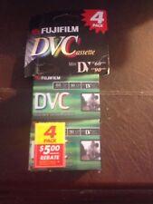 4 Fujifilm Mini DV Tapes DVC Video Cassettes, NEW