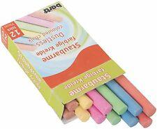 Bunte Kreiden Kinder Spielen Basteln Malen Lernen Schule Tafel farbig staubarm