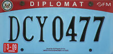 Framed Print - U.S. Diplomatic Number License Plate (Picture Poster Car Art)