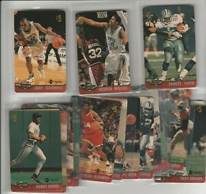 90'S INSERT LOT (17/20) 1996 ASSETS $5 PHONE CARDS UNSCRATCHED BONDS STACKHOUSE