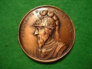 King Stephen DASSIER CROWN SIZE BRONZE FINISH MEDAL BY THE LONDON MINT