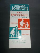 HOWARD JOHNSON'S 1965 Winter and Spring DIRECTORY World's Fair