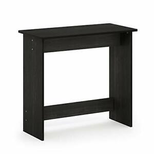 Computer Home Work Desk - Simple & Compact Wood Design - Espresso/Black