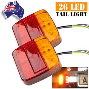 Tail Stop Indicator Light Truck Trailer Caravan Reflector Number Plate Lamp LED