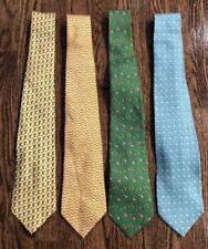 Faragamo Mens Ties 100% Silk Bundle Of 4