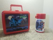 Collectors Vintage Plastic Lunch box & thermos Aladdin The Shadow 1994