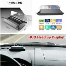 Car Head Up Display HUD Speedometer Projector OBD2 Alarm Water temp Overspeed