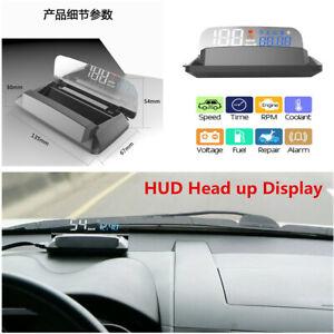 Car Head Up Display HUD Speedometer Projector OBD2 Alarm Water temp Overspeed