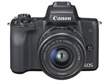 Cámara EVIL-Canon EOS M50, Sensor CMOS, 24.1MP,4K,Wi-Fi, Negro+EF-M 15-45 IS STM