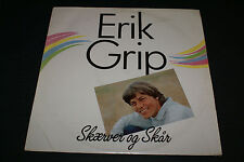 Erik Grip ‎– Skærver Og Skår LP DENMARK FOLK ROCK RARE OUT OF PRINT HTF VG+/VG++