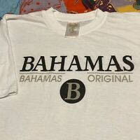 Bahamas Original T Shirt Adult XL White Travel Vacation