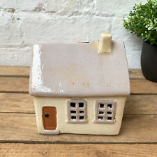 Ceramic Traditional Village Cottage House Home Money Coin Savings Piggy Bank Box