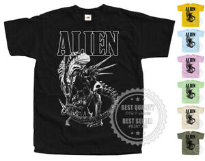 ALIEN V7 horror T SHIRT Movie Poster colors Black All Sizes S to 5XL