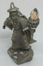 Vtg Signed Sedlow Sorcerer Wizard Warlock Crystal figurine diamond cut mythical