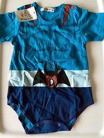 Baby Kids Boys Cotton bat batman Bodysuit Short sleeves summer Romper Outfits
